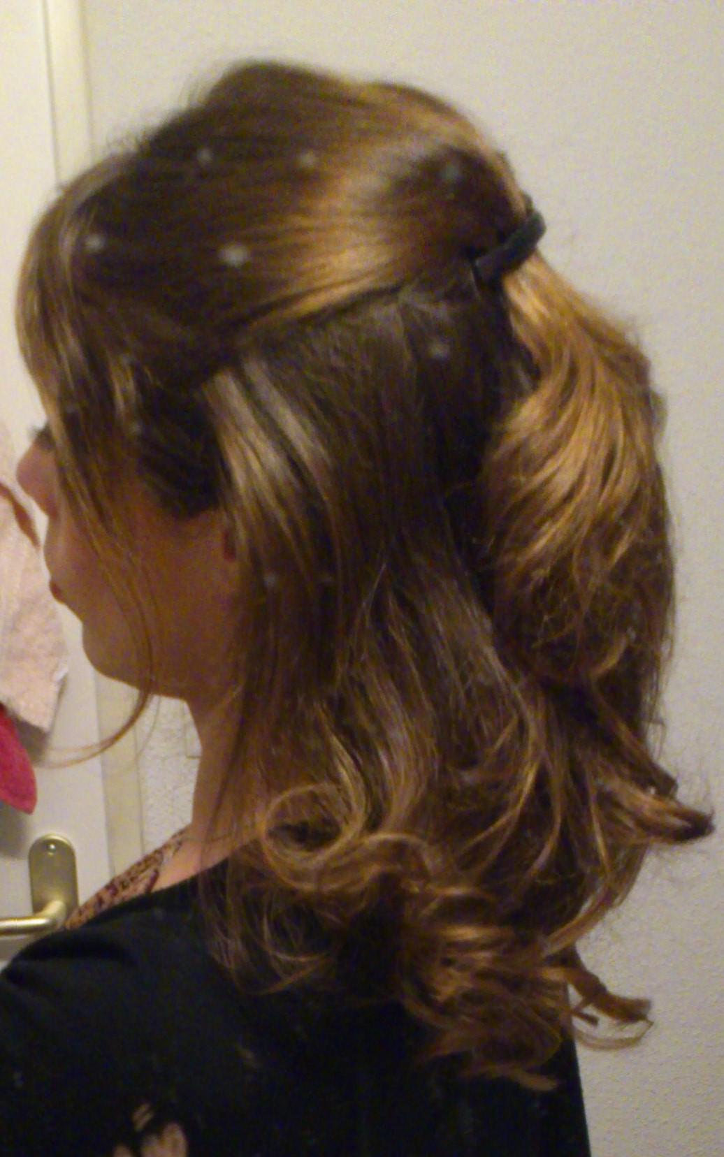 Boucles cheveux à la maison