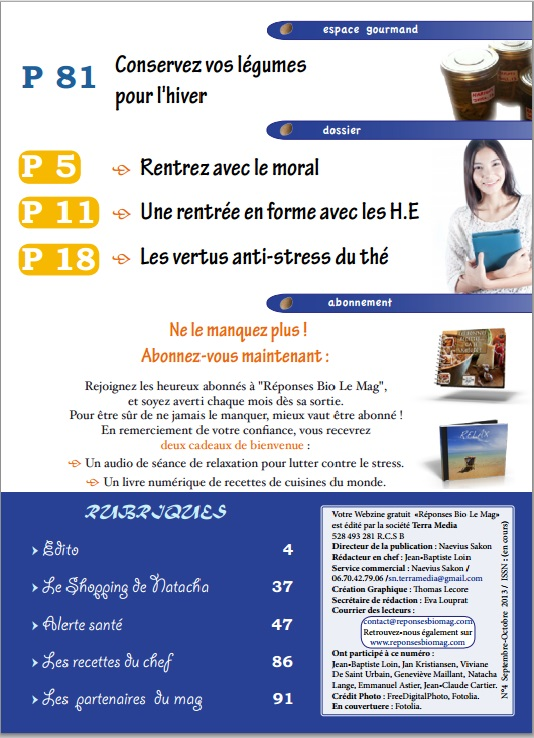 Sommaire 2 reponses bio n°4