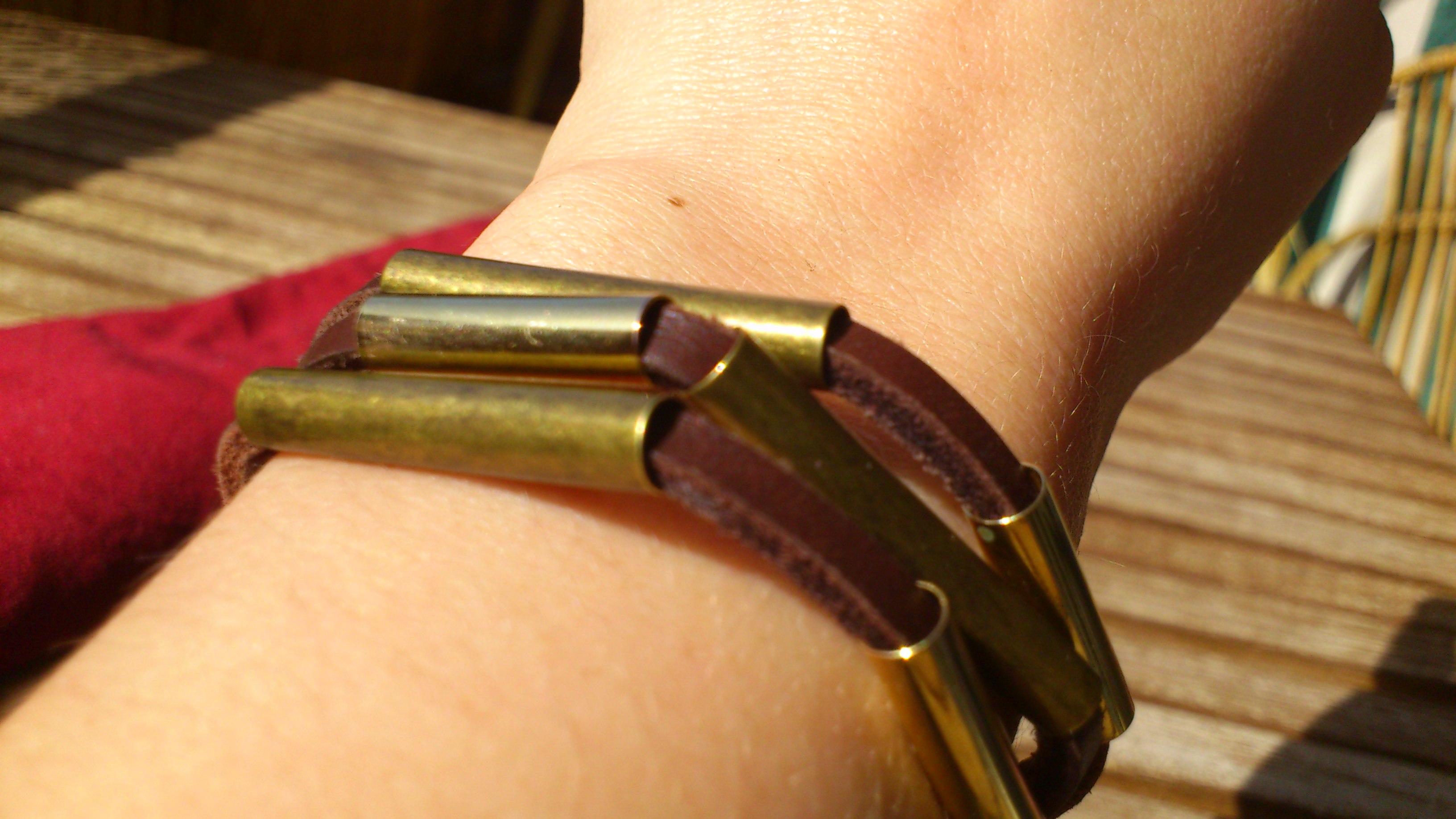 Bracelet cuir métal la droguerie